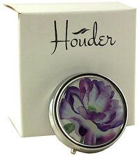 Cute Pill Box For Purse Decorative Pill Case Purple Pill Holder Mint Case Metal