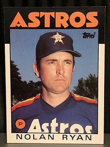1986 Topps Nolan Ryan baseball card New York Mets NrMt  #100 MLB HOF Mets Angels
