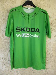 Maillot cycliste vert SKODA Tour de France shirt trikot maglia jersey camiseta L