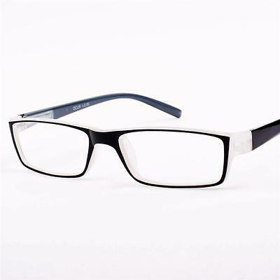 New Womens Mens Vintage Black/Clear Reading Glasses +1.75 +2 +3.5 S54