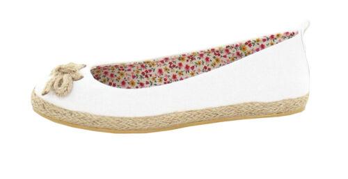 Haut femme toile pompes nouvelle femme ballerine appartements Lacet Chaussures de plage nœud