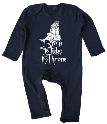 """Game of Thrones /""""Born to take the Throne/"""" Baby Romper Suit All in One Gift"""