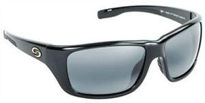 Strike King S1165 S11 Shiny Black Toledo Sunglasses Gray Lens