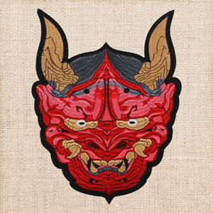 Bull Head Embroidered Garment Applique Sew Iron on Patches
