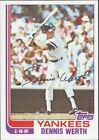 1982 Topps Dennis Werth #154 Baseball Card