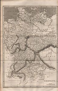 1811 ANTIQUE MAP - GERMANY