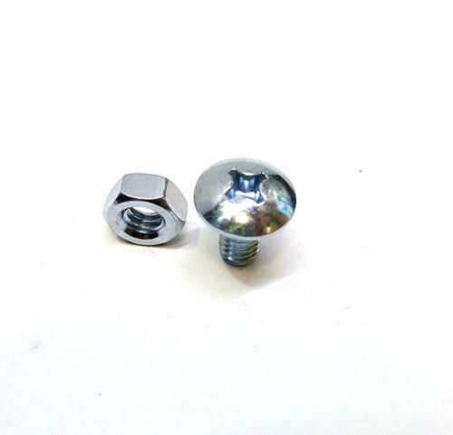 Stainless Steel Fin Phillips Pan Head with Nut Machine Screw #6  1//2/'/'L Qty 24