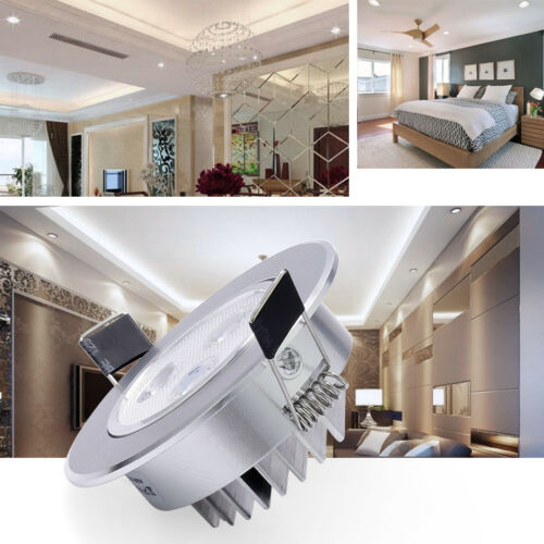 Dimmable 3W 7W 12W LED Ceiling Downlights Recessed Spotlights Round Tilt 220V