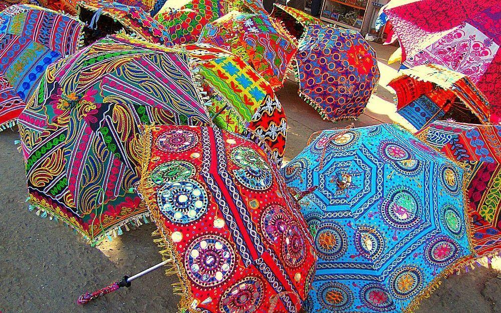 Lot of 50 Pcs Bohemian Parasols Indian Hippie Umbrellas Decor Wholesale Lot