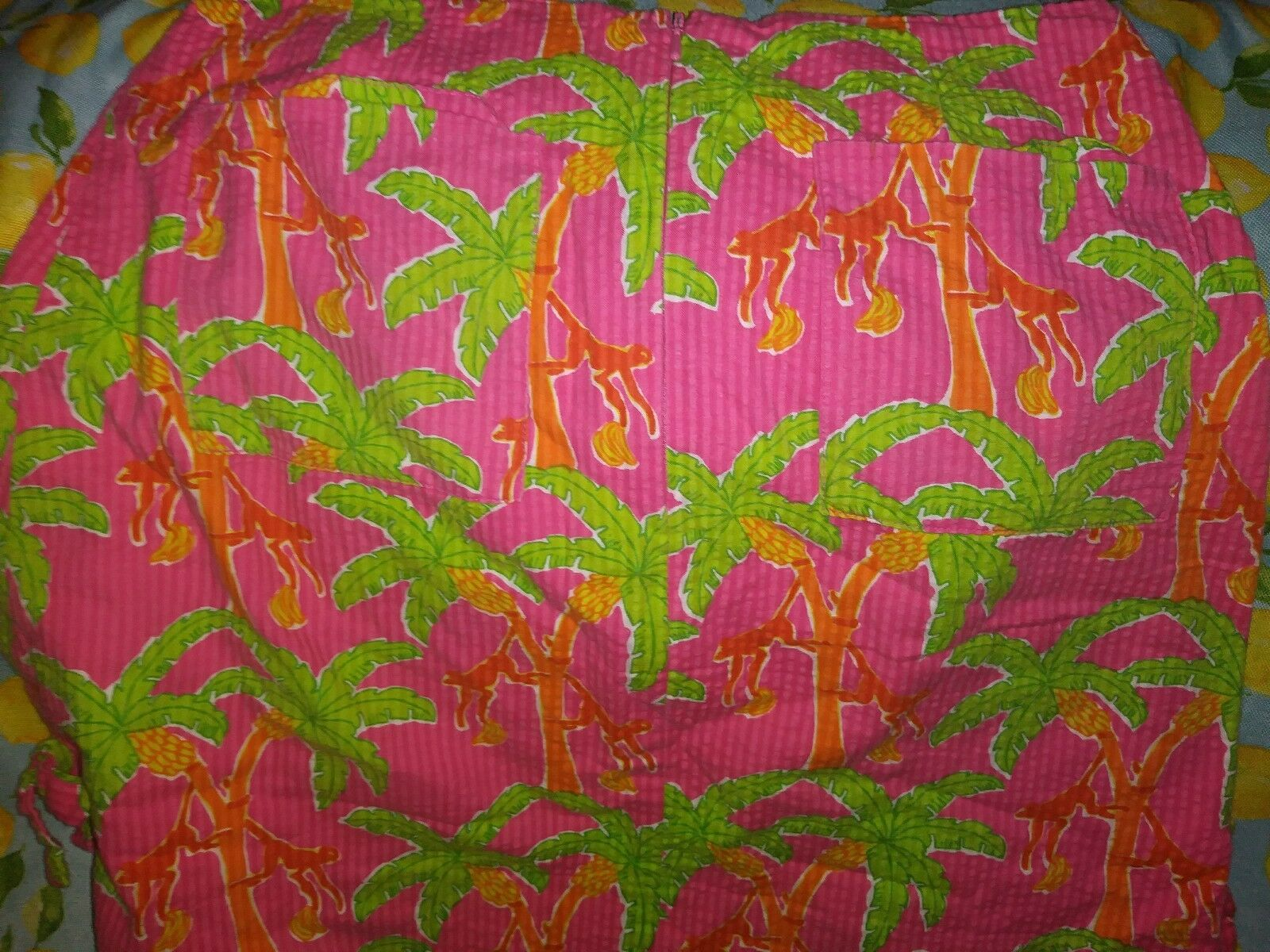 Lilly Pulitzer Monkey Palm Trees Skirt Beautiful Sz 8