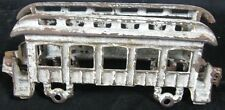 Antique Cast Iron Trolly Train Car As Is