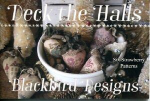 Deck-the-Halls-6-Strawberry-Patterns-Blackbird-Designs-New