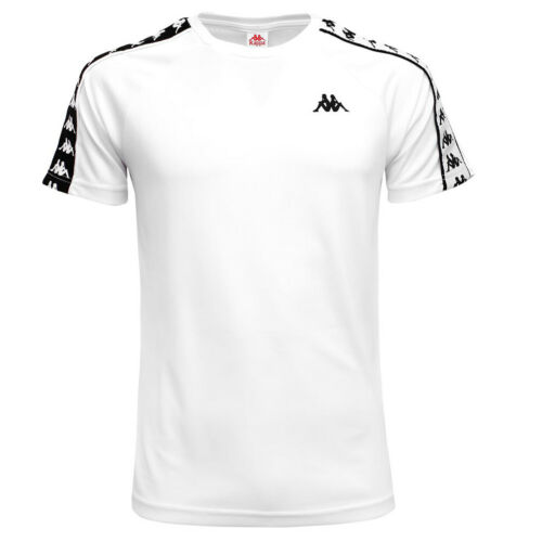 T-shirt Uomo Kappa Banda Coenly Slim Bianca Codice 30300U0-A60