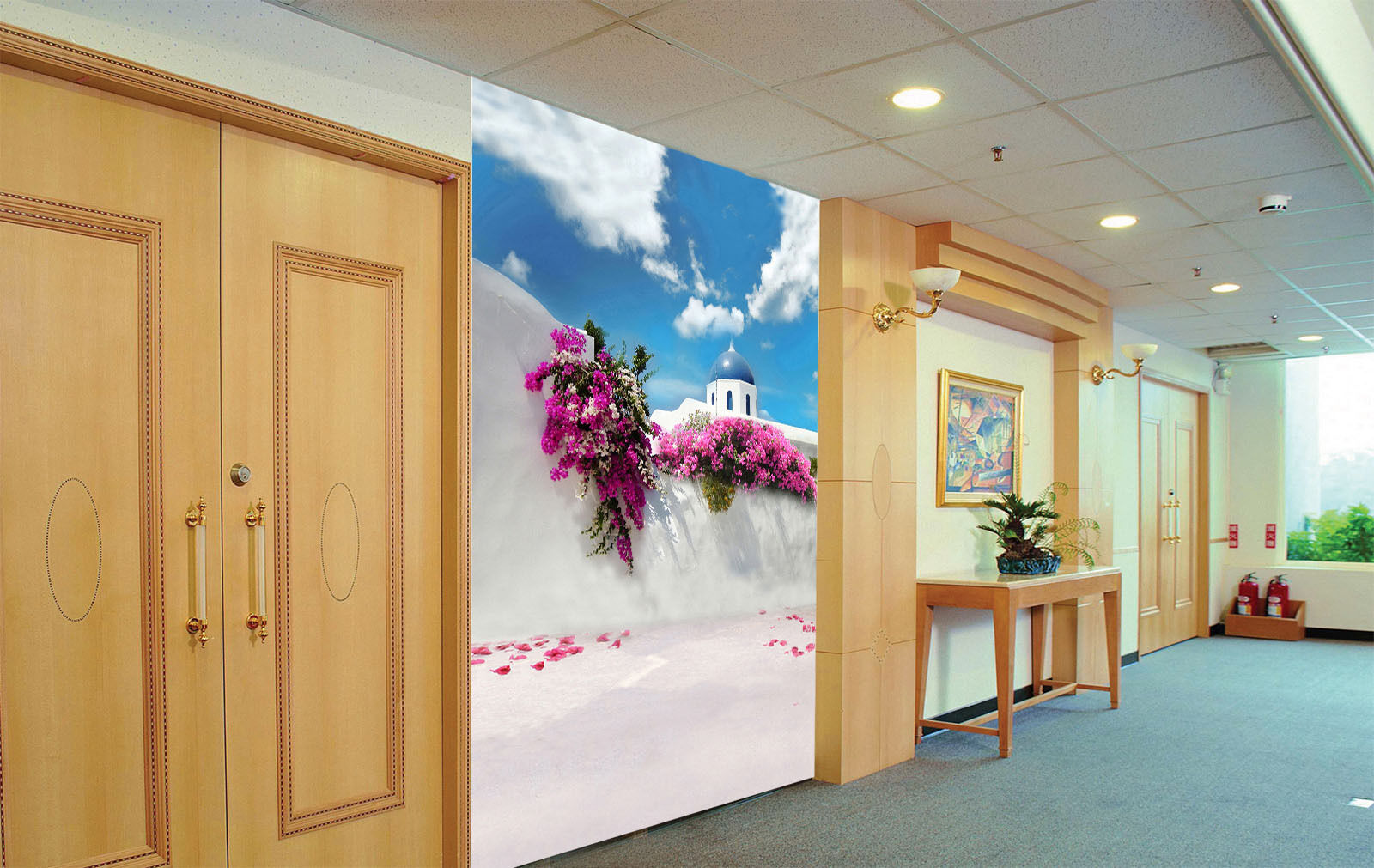 3D White Clouds Flowers Paper Wall Print Wall Decal Wall Deco Indoor Murals