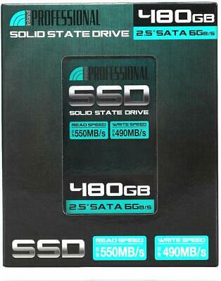 "Inland 480GB SSD 2.5/"" Hard Drive Laptop SATA III 6.0Gbps 64 bit Windows 10"