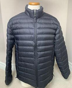 Cole-Haan-Puffer-Coat-Jacket-Packable-Lightweight-Duck-Down-Black-Mens-XL-54163