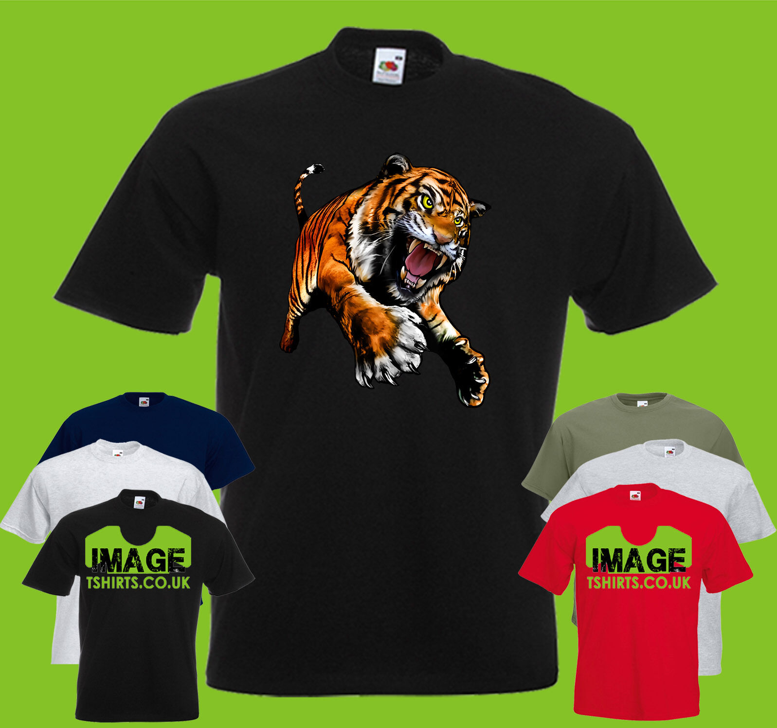 Tiger Prowl Mens PRINTED T-SHIRT Big Cat Wildlife Animals Fangs Claw