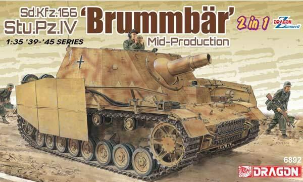 DRAGON 6892 Sd.Kfz.166 Stu.Pz.IV 'Brummbär'