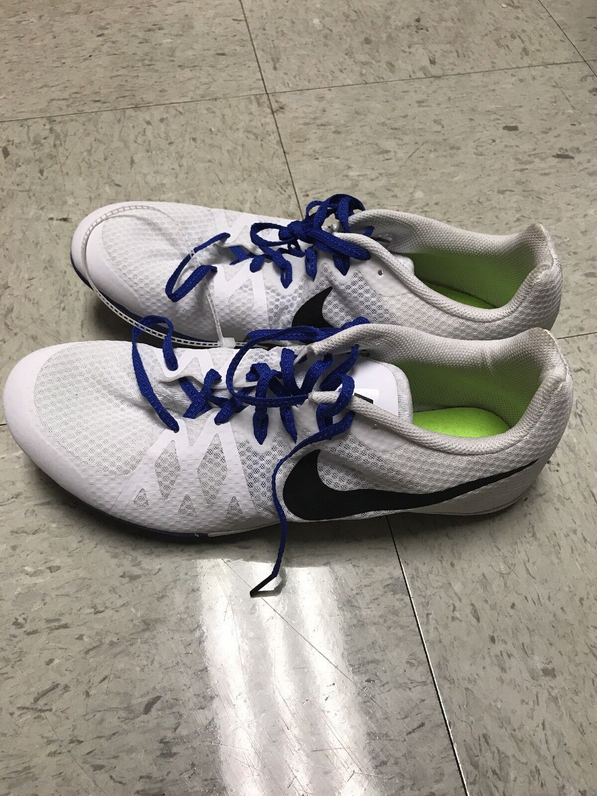 New Nike Zoom Rival M 8 Mens Multi Spikes Use Track & Field Spikes Multi Shoes Run Jump White 0d7a35