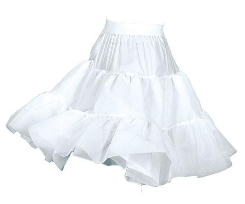 Zubehör Accessoire Karneval Fasching Petticoat knielang weiß 2-lagig NEU