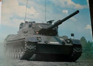 Large-Damaged-Picture-of-a-Leopard-Tank-and-some-smaller-photographs-of-Tanks