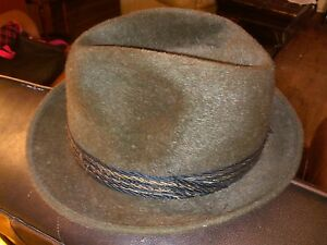 Image is loading VINTAGE-LEMBERT-FEDORA-FOREST-GREEN-WOOL-MADE-IN- 89e69e75fa9