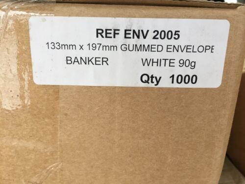 90 gsm packs of 50//100//250//500 //1000 5x7 + White gummed  Envelopes 133 x197mm
