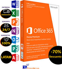 Microsoft Office 365 Home Premium 1 Year Subscription for 5 PC Mac And/or Phone