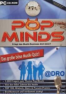 CD-ROM-POP-MINDS-Musik-Quiz-Pop-Stars-80er-Jahre-bis-heute