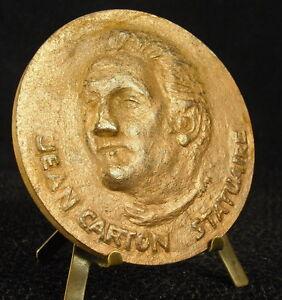 Marque Populaire Médaille 186 G 72 Mm Statuaire Jean Carton Sculpteur Sculptor 1968 Medal 铜牌