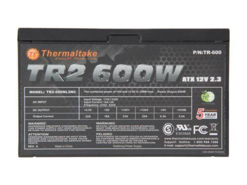 Thermaltake TR2 TR-600 600W ATX12V v2.3 SLI Ready CrossFire Ready Power Supply
