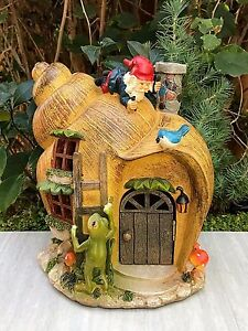 Superbe Image Is Loading Miniature Dollhouse FAIRY GARDEN Snail GNOME House With