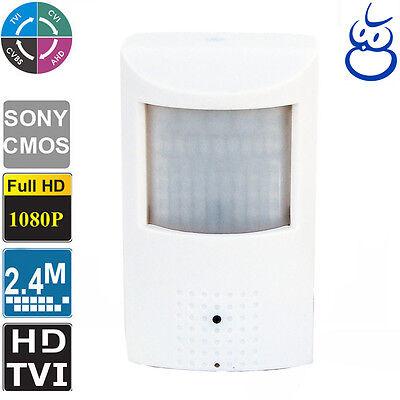 HD CVI 2.4MP Spy Motion Detector Camera 1080p HD 3.7mm IR LED Nightvision Power