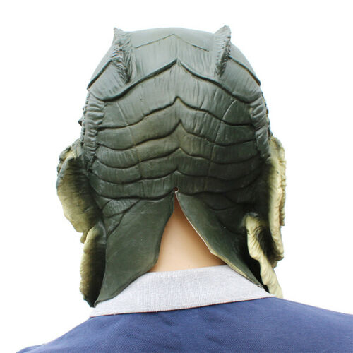 New Cosplay Movie The Shape of Water Latex Headgear Mask Costume Halloween Party