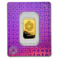 10 gram Gold Bar - Scottsdale Mint (In Certi-Lock® Assay) - SKU #97643