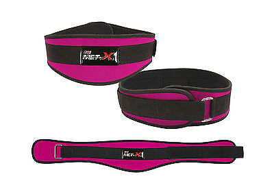 Gerade Met-x Womens Weight Lifting Fitness Gym Belts Back Support Pink Training Belts Kaufe Jetzt