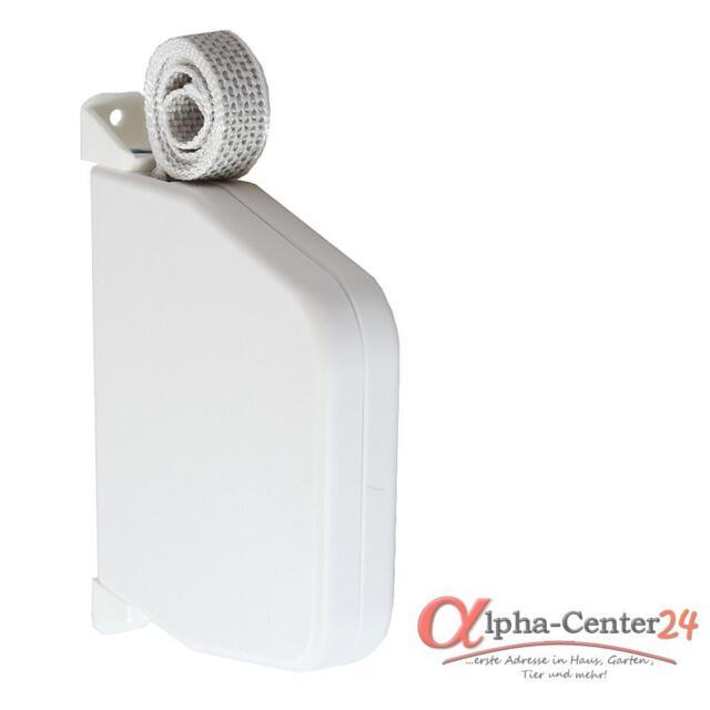 Aufschraubwickler Gurtwickler Mini Aufputz 5m weiß Rollladen Gurtband