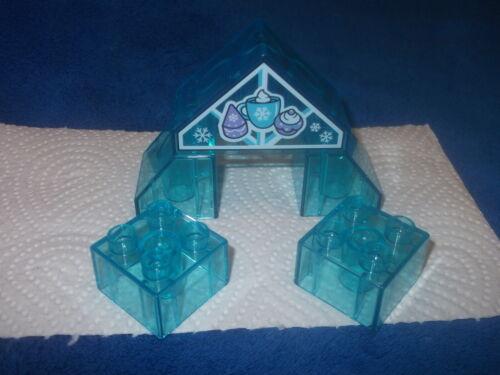 Lego Duplo Frozen 5 X transparent hellblau Stein Dach 4er Schloß 10920 NEU