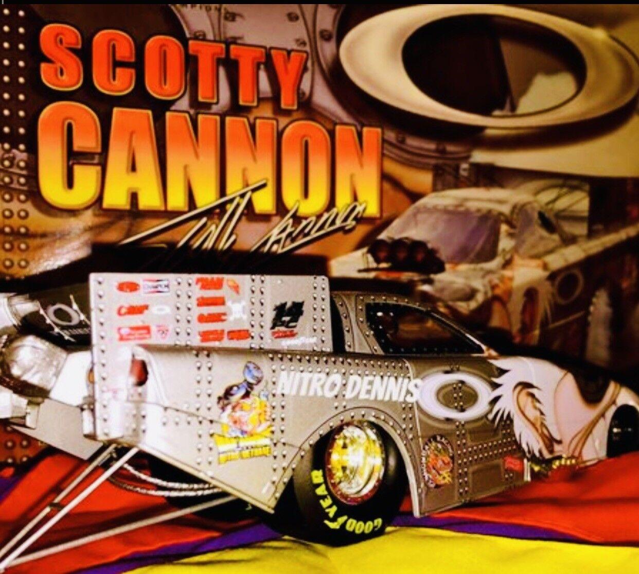 National Hot Rod Association Scotty Cannon 1 24 Diecast Nitro Lunettes Drôle Voiture Action Drag Racing