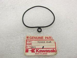KAWASAKI NOS - 2 OIL FILTER O-RINGS - KLR-KLT-KLX200-250 - 92055-1048
