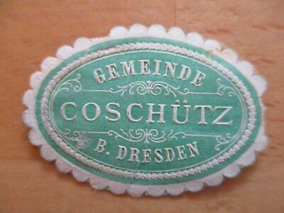 Siegelmarke 21119 Zielstrebig Dresden Gemeinde Coschütz B