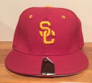 purchase cheap e671a 881c2 Image is loading Nike-True-SC-Trojans-Cap-Hat-Fitted-Size-