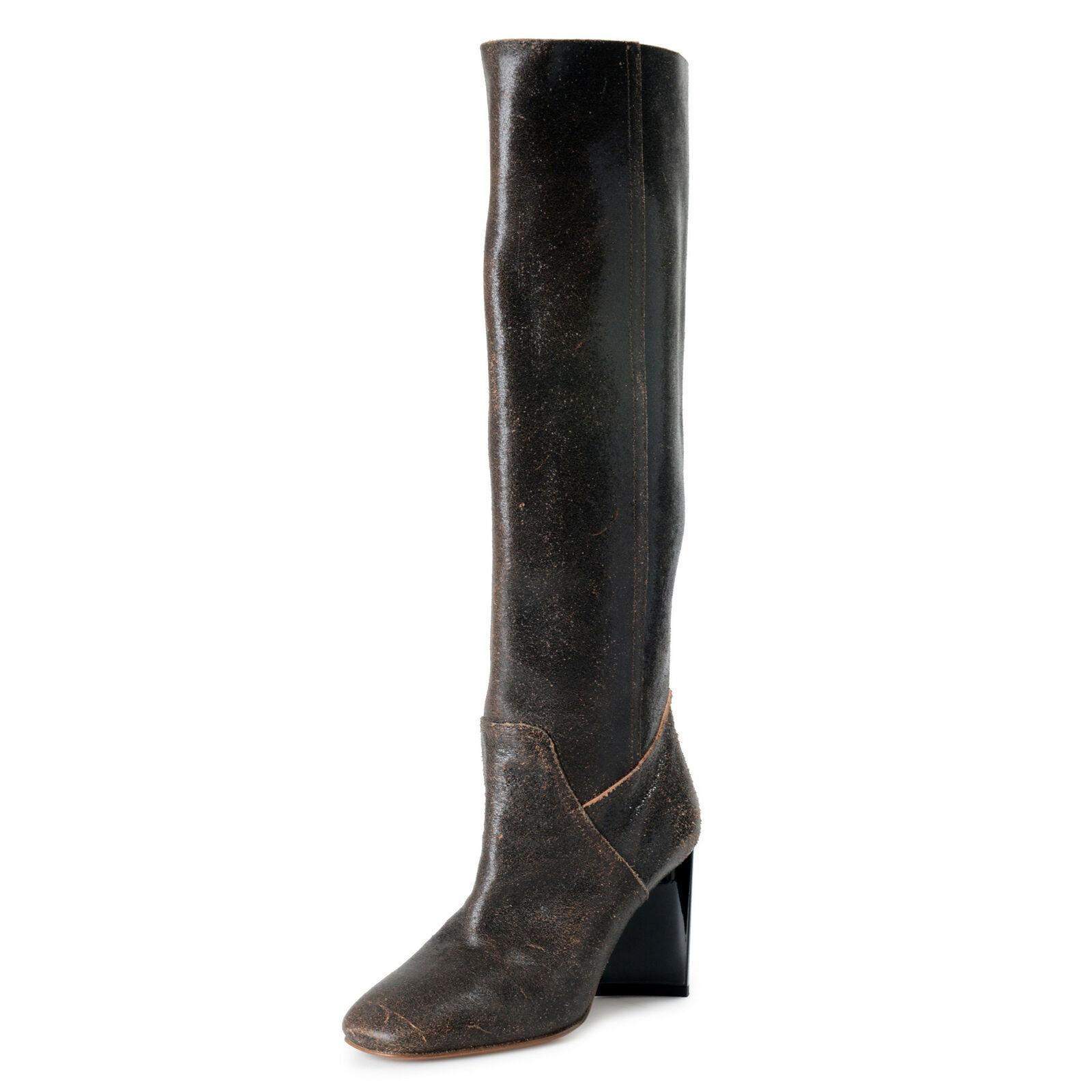 Maison Margiela 22 Damen Antikleder Hoher Absatz Stiefel Schuhe US 7 It 37