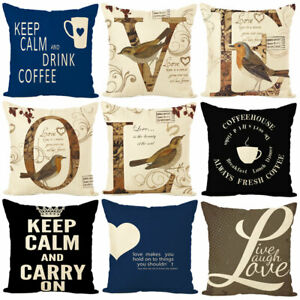 Am-Retro-Letter-Square-Linen-Pillow-Case-Cushion-Cover-Sofa-Bed-Cafe-Decor-Eyef