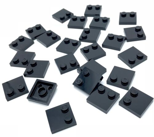 Lego 25 New Black Tiles Modified 2 x 2 with Studs on Edge Parts