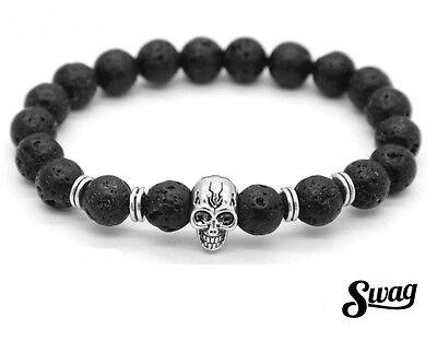 Bracelet Jonc femme tête de mort skull doré anneau poignet or skull