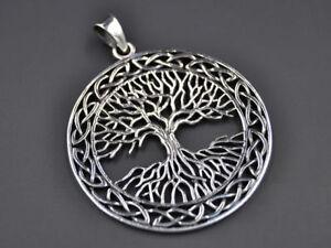 Großer Keltischer Lebensbaum Baum Des Lebens Anhänger Silber Gothic