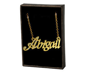 Name Necklace Abigail – 18K Gold Plated | Valentines Name Chain Necless Birthday
