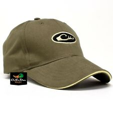 DRAKE WATERFOWL SIX PANEL FORMED OVAL LOGO COTTON HAT BALL CAP LODEN OLIVE