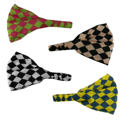 Soft Wide Checker Headband Hair Wrap w//elastic Head Wrap for Women Four Styles!